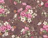 WALS0395 - Illustration of Rose Bouquets Wall Mural