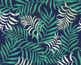 WALS0431 - Exotic Jungle Leaves Wall Mural