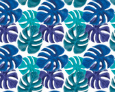 WALS0433 - Multi Coloured Palm Leaves Wall Mural