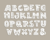 WALS0435 - Patterned Alphabet Wall Mural