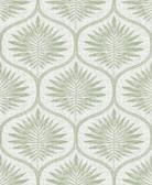 NUS3621 - Green Primitive Leaves Peel & Stick Wallpaper