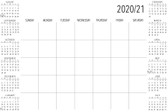 WPE3688 - White Academic Calendar 2020-2021