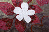 MS-5-0114 - Red Mosaic Wall Mural