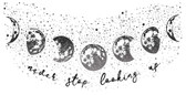 DWPQ3756 - Never Stop Looking Up Wall Quote