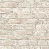 NHS3708 - White Washed Denver Brick Peel & Stick Wallpaper