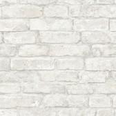 NHS3709 - White Denver Brick Peel & Stick Wallpaper