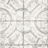 NHS3711 - Newport Tin Tile Peel & Stick Wallpaper