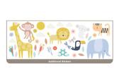WT46474 - Safari Animals Tree Wall Stickers