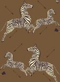 SCS3872 - Safari Brown Zebra Safari Scalamandre Self Adhesive Wallpaper