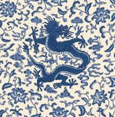 SCS3878 - Indigo Chi'en Dragon Scalamandre Self Adhesive Wallpaper