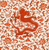 SCS3879 - Persimmon Chi'en Dragon Scalamandre Self Adhesive Wallpaper