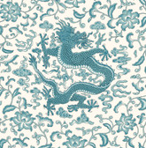 SCS3880 - Peacock Chi'en Dragon Scalamandre Self Adhesive Wallpaper