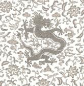 SCS3881 - Grey Chi'en Dragon Scalamandre Self Adhesive Wallpaper