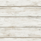 NHS3760 - White Washed Plank Peel & Stick Wallpaper