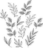DWPK3900 - Love Karla Designs Brushwood Leaves Wall Decal