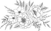DWPK3904 - Love Karla Designs Peony and Rose Wall Decal