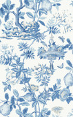 SCS3842 - Delft Shantung Garden Scalamandre Self Adhesive Wallpaper