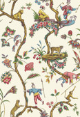 SCS3843 - White Chinoise Exotique Scalamandre Self Adhesive Wallpaper