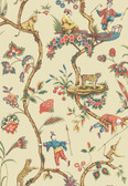 SCS3845 - Ecru Chinoise Exotique Scalamandre Self Adhesive Wallpaper