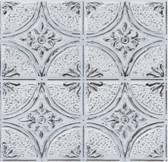 NH3793 - Camden Antique White Faux Tin Peel & Stick Backsplash Tiles