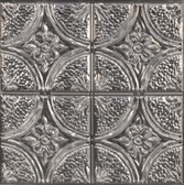 NH3922 - Camden Antique Silver Faux Tin Peel & Stick Backsplash Tiles