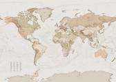 X7-1015 - Earth Map Wall Mural