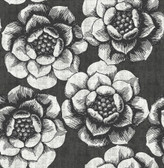 NUS3831 - Charcoal Ronette Peel & Stick Wallpaper
