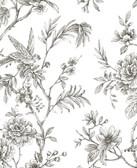NUS3832 - Charcoal Longwood Peel & Stick Wallpaper