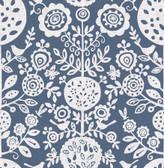 NUS4031 - Navy Anya Peel & Stick Wallpaper