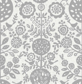 NUS4033 - Grey Anya Peel & Stick Wallpaper
