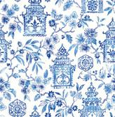 NUS4035 - Blue Danson Peel & Stick Wallpaper