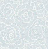 NUS4048 - Blue Saraya Peel & Stick Wallpaper