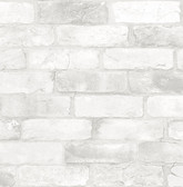 NU2218 - Loft White Brick Peel & Stick Wallpaper