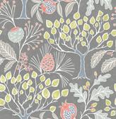 NU3039 - Groovy Garden Grey Peel & Stick Wallpaper