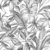 NUS3498 - Black Canopy Peel & Stick Wallpaper
