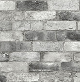 NUS3550 - Grey London Brick Peel & Stick Wallpaper