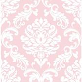 NU1397 - Pink Ariel Peel & Stick Wallpaper