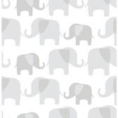 NU1405 - Grey Elephant Parade Peel & Stick Wallpaper