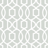 NU1421 - Grey Grand Trellis Peel & Stick Wallpaper