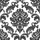NU1646 - Ariel Black and White Damask Peel & Stick Wallpaper