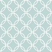 NU1654 - Blue Links Peel & Stick Wallpaper
