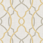 NU1695 - Sausalito Taupe/Yellow Peel & Stick Wallpaper