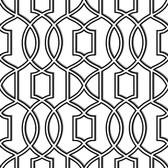 NU1696 - Uptown Trellis Black/White Peel & Stick Wallpaper