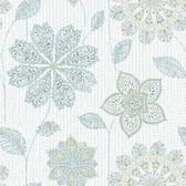 NU1697 - Gypsy Floral Blue/Green Peel & Stick Wallpaper