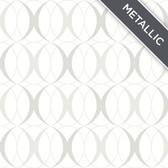 NU1704 - Circulate Light Silver Peel & Stick Wallpaper