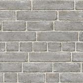 NU2236 - Grey Brick Facade Peel & Stick Wallpaper