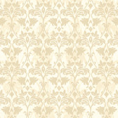 Beige Book Drybrush Damask Wallpaper - GG4735
