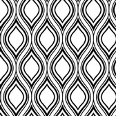 Black & White Book Ogee Wallpaper - FP2688