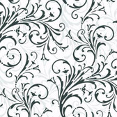 Black & White Book Layered Scroll Wallpaper - KD1726