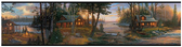 CH7842BDLM-LAKE FOREST LODGE CABIN FEVER BORDER-MULTI-BLACK BAND